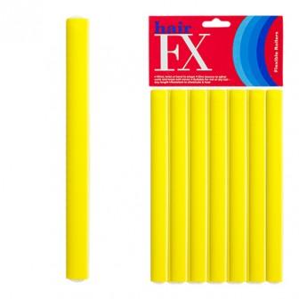 Hair FX Flexible Rod Short Yellow 12pc