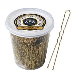Premium Pin Company 888 Ball Tip Fringe Pins 2 inch - Gold