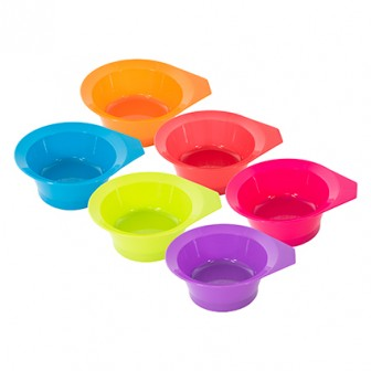 999 Bright Tint Bowl Tubs 6 Colour - 12 Piece
