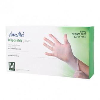 ArteMed Vinyl Disposable Gloves Medium 100pk