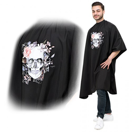 Salon Smart Fleur De Skull Cape Black
