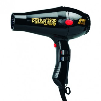 Parlux 3200 Ionic and Ceramic Compact Hair Dryer - Black