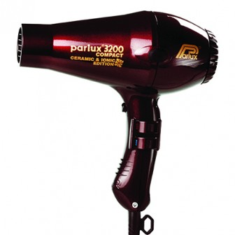 Parlux 3200 Ionic + Ceramic Compact Hair Dryer - Chocolate Cherry