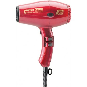 Parlux 3500 Super Compact Ceramic & Ionic Hair Dryer - Red