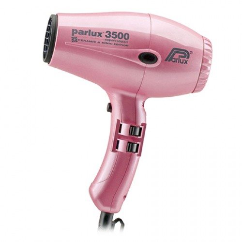 Parlux 3500 Super Compact Ceramic & Ionic Hair Dryer - Pink