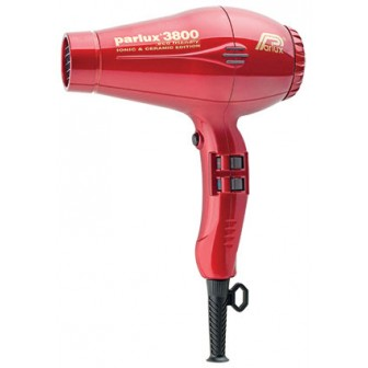 Parlux 3800 Ionic and Ceramic Hair Dryer - Red