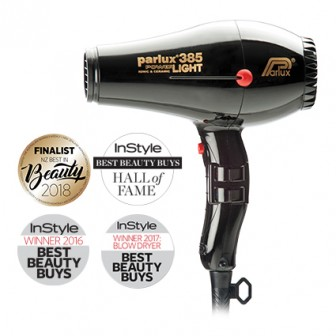 Parlux 385 Power Light Ceramic and Ionic Hair Dryer - Black