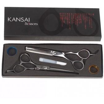 Iceman Kansai 5.5 Left Handed Scissor & Thinner Set