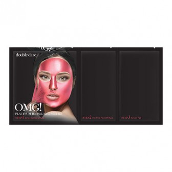 OMG! Platinum Hot Pink 3 In 1 Facial Mask