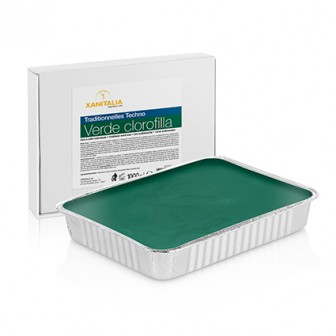 Xanitalia Techno Stripless Green Chlorophyl Wax Cake 1000g