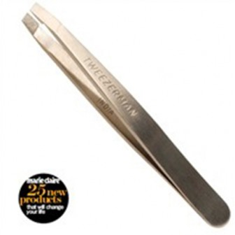 Tweezerman Mini Slant Tweezer - stainless steel