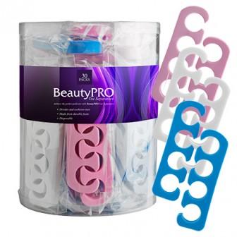 BeautyPRO Toe Separators Assorted Colours 30pc