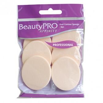 BeautyPRO Affinity Contour Sponges Oval 6pc