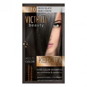 Victoria Beauty V10 Ebony Black Shampoo 6pc x 40ml