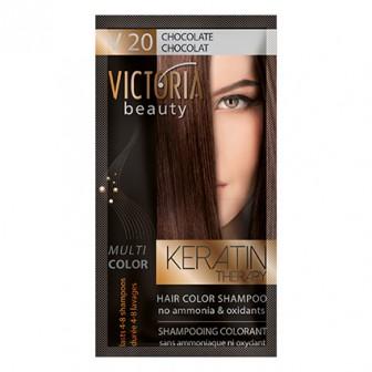 Victoria Beauty V20 Chocolate Shampoo 6pc x 40ml