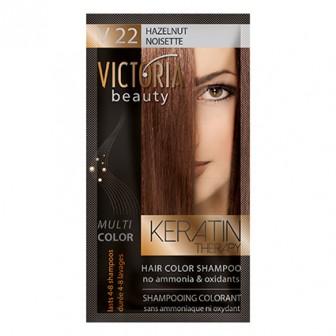 Victoria Beauty V22 Hazelnut Shampoo 6pc x 40ml