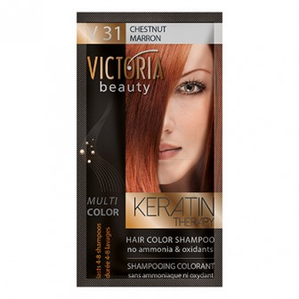 Victoria Beauty V31 Chestnut Shampoo 6pc x 40ml