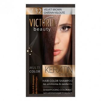 Victoria Beauty V32 Velvet Brown Shampoo 6pc x 40ml