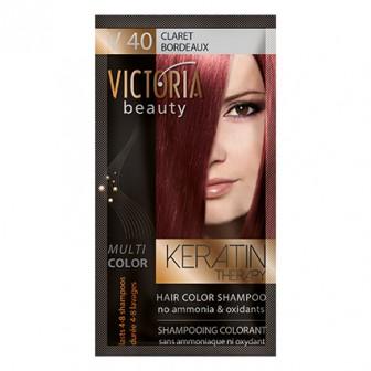 Victoria Beauty V40 Claret Shampoo 6pc x 40ml