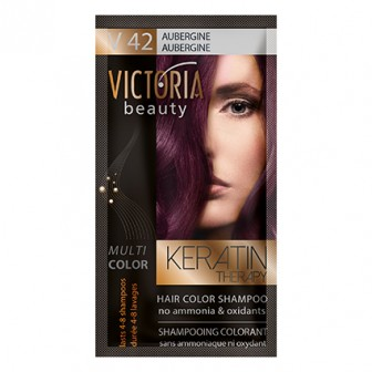 Victoria Beauty V42 Aubergine Shampoo 6pc x 40ml