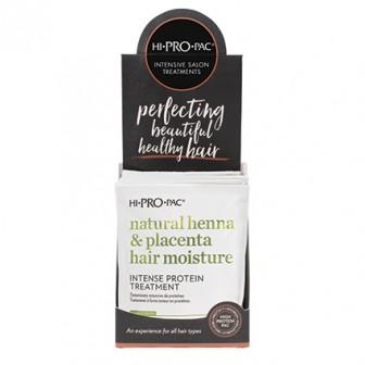 Hi-Pro-Pac Henna Placenta & Vitamin E Hair Moisture Treatment 12pc x 52ml