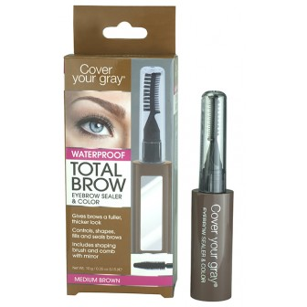 Cover Your Gray Total Brow Eyebrow Sealer and Colour Medium Brown