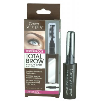 Cover Your Gray Total Brow Eyebrow Sealer and Colour Dark Brown