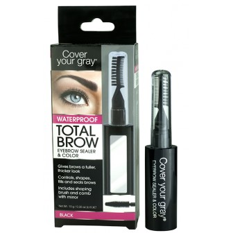 Cover Your Gray Total Brow Eyebrow Sealer and Colour Black