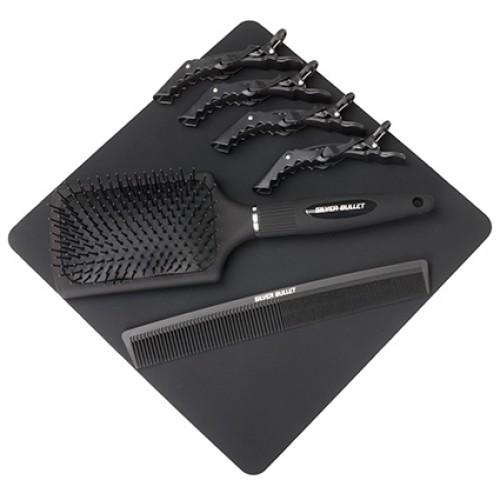 Silver Bullet Keratin 230 Titanium Hair Straightener - Silver Wide Plates 38mm