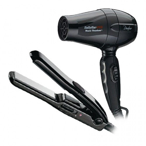 BaByliss Pro Bambino Dryer & Mini Straightener Travel Set