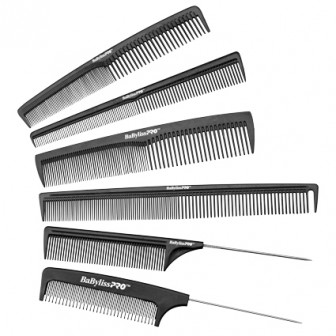 BaBylissPRO Carbon Comb Set 6pc