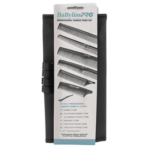 BaBylissPRO Carbon Comb Set 6pc
