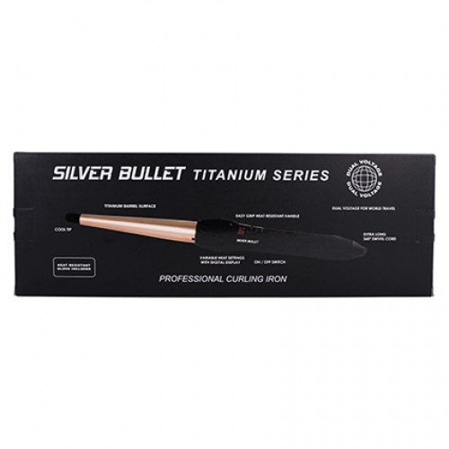 Silver Bullet Conical Curling Iron - Rose Gold Titanium Large 19mm - 32mm